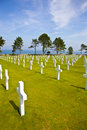 View at American Cemetery in Normandy, France Royalty Free Stock Photos