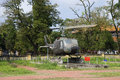 View of the american multi-purpose helicopter Bell UH-1 Iroquois in Hue, Vietnam Royalty Free Stock Photo