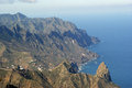 View from the anaga mountains tenerife Stock Image