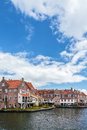 View at the ancient dutch city enkhuizen in summer Royalty Free Stock Images