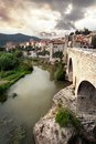 View of ancient spanish town besalu catalonia Royalty Free Stock Images