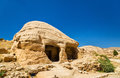 View of ancient tombs at Petra Royalty Free Stock Photo