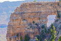 View at angel window in North Rim Of Grand Canyon Royalty Free Stock Photo
