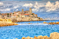 View of antibes south france Stock Photography
