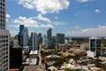 View from an Apartment Tower Across Miami Brickell Stock Photos