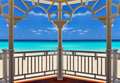 View from an arbor to the atlantic ocean varadero cuba Stock Photography