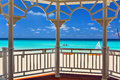 View from an arbor to the atlantic ocean varadero cuba Royalty Free Stock Photography