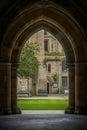 View Through Arch Glasgow University Royalty Free Stock Photo
