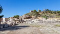 View of the archaeological site of eleusis attica greece was one great shrines antiquity its practices were based on two goddesses Stock Image