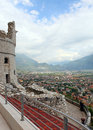 View of Arco and Riva del Garda (Northern Italy) Royalty Free Stock Image