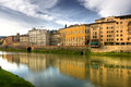 The view of arno from ponte vecchio in florence italy Stock Photography