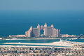 View on artificial island Palm Jumeirah and Atlant Royalty Free Stock Photo