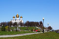 View of the Assumption Cathedral. Yaroslavl, Russia. May 2017