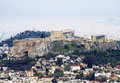 A view of Athens with the Acropolis Stock Photos
