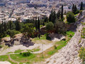 View of athens city from filopappou hill see my other works in portfolio Royalty Free Stock Image