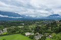 View of Austrian city of Salzburg Royalty Free Stock Photo