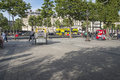 View on avenue champs elysees in paris