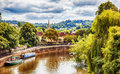 View of avon river summer landscape bath area Stock Photography