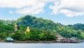 View of baan ao salad port and fishing village on koh kood island thailand may ko kut is the Royalty Free Stock Photo