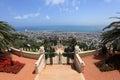 View of Bahai Gardens & Haifa City, Israel Royalty Free Stock Photo