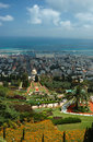 View of Bahai temple gardens,Haifa,Israel Stock Photo