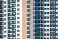 View of balconies of apartment building.New building architecture Royalty Free Stock Photo
