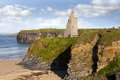 View of the  Ballybunion castle beach and cliffs Royalty Free Stock Photo