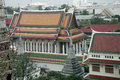 A view from the bangkog fascinating temples city and river views Royalty Free Stock Image
