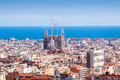 View of barcelona catalonia top and mediterranean spain Stock Image