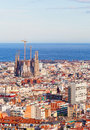 View of barcelona from park guel spain Stock Photo
