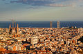 View of barcelona from park guel spain Royalty Free Stock Photos