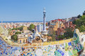 View of barcelona from park guell spain Stock Photos
