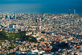 View of barcelona from Tibidano, Spain. Stock Photography