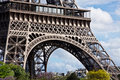 View of the base of the eiffel tower in spring Royalty Free Stock Photography