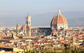 View at the Basilica di Santa Maria, Florence Royalty Free Stock Image