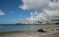 View on a bay of city horta faial Royalty Free Stock Image