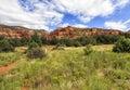 View of Bear Mountain Trail - Oski Approach in Sedona, Arizona, USA Royalty Free Stock Photo