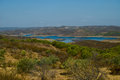 View of beautiful lake in algarve landscape Royalty Free Stock Photos