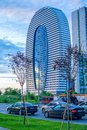 View of beautiful modern skyscraper building of Courtyard by Marriott in Batumi Royalty Free Stock Photo