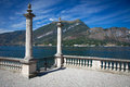 View of beautiful park of Villa Melzi