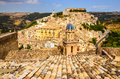 View of beautiful village ragusa in sicily ibla italy Royalty Free Stock Photography