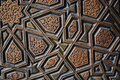 View of a beautifully carved wood with an interesting design and architecture Royalty Free Stock Photo