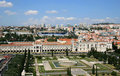 View of Belem from Discoveries Monument, Portugal Royalty Free Stock Photography