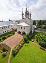 View from the bell tower in the Kremlin Royalty Free Stock Image