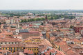 View from the bell tower Torre Dei Lamberti in Verona Royalty Free Stock Photo