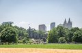 View on the Belvedere Castle in Central park in New York Royalty Free Stock Photo