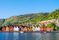 View of Bergen, Norway during the day Royalty Free Stock Photo