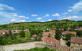 View of Biertan Village, Romania Royalty Free Stock Image