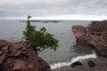 View from Black Stones at Lake Superior , Presque Isle Park, Michigan, USA Royalty Free Stock Photo