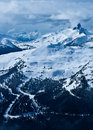 View from Blackcomb Mountain Royalty Free Stock Photos
